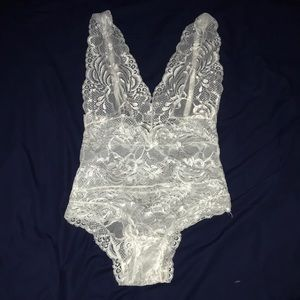 Tops - White lace body suit